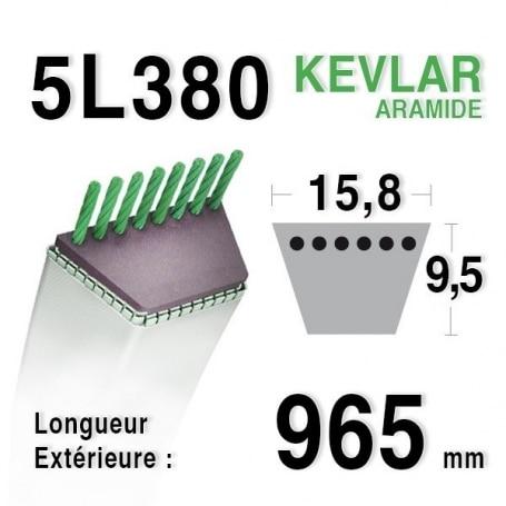Courroie 5L380 - 5L38 KUBOTA 6132162210