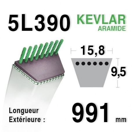 Courroie 5L390 - 5L39 JOHN DEERE m82258