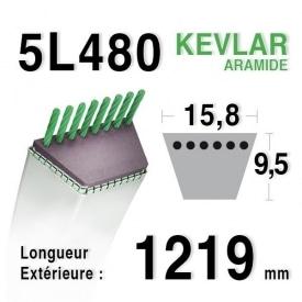 Courroie 5L480 - 5L48 MTD 7540370 - 754-0370