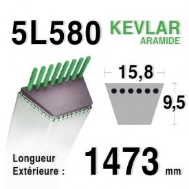 Courroie 5L580 - 5L58 MTD 7540493 - 754-0493