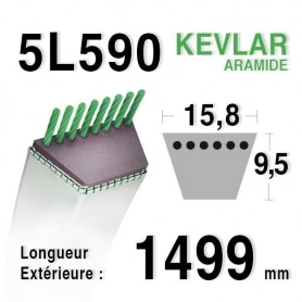 Courroie 5L590 - 5L59 MTD 7540937 - 7540957