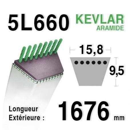 Courroie 5L660 - 5L66 MTD 7540127 - 90-47-230 - 75404211