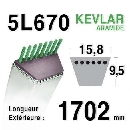 Courroie 5L670 - 5L67 MTD 75404170 - 7540151 - 90-65-079 JOHN DEERE m44121