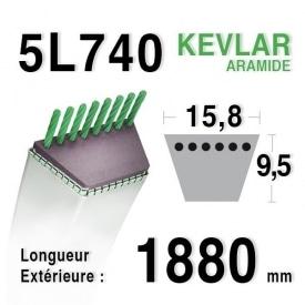 Courroie 5L740 - 5L74 MTD 7540371 a AMF 302289 DIXON 2412 WESTWOOD 2695