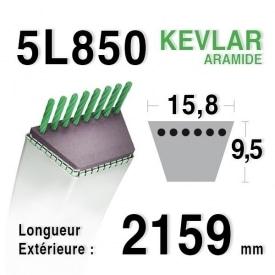 Courroie 5L850 - 5L85 HUSQVARNA 532148763 TORO 271102 - 1268410 AMF - NOMA 319108