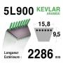 Courroie  5L900 - 5L90 MTD 7540467 AYP - HUSQVARNA 174368 - 532174368