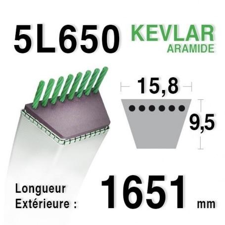 Courroie 5L650 - 5L65 MTD 7754-0279 - 954-0363