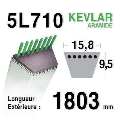 Courroie 5L710 - 5L71 AYP - ROPER 55941 - 3541r - 6944r BERNARD LOISIRS 414847 MTD 7540427 WESTWOOD 1721
