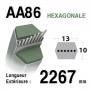 Courroie aa86 CASTELGARDEN 35065701/0 - 135061508/0 - 35065701/0