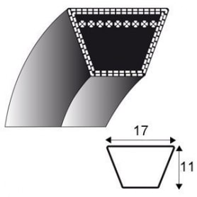 Courroie b37 - trapézoidale 17 mm x 1009 mm HONDA 22431-719-690