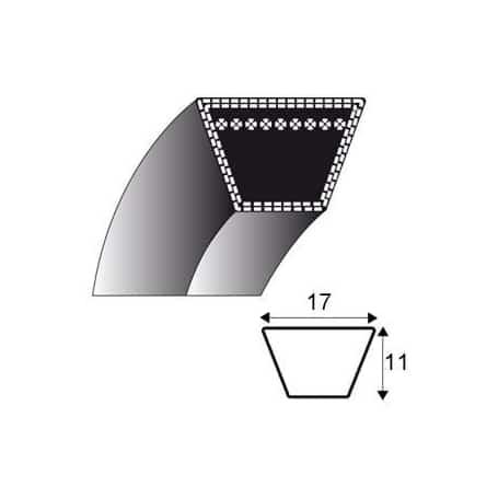 Courroie b45 - trapézoidale 17 mm x 1212 mm