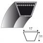 Courroie b54 - trapézoidale 17 mm x 1441 mm CASTELGARDEN 35062812/0 - 35062814/0 HONDA cg35062812h0 VIKING 6151-704-2135