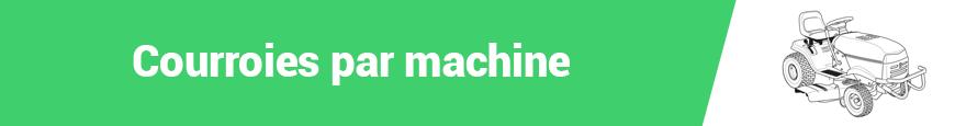 Courroies par machine