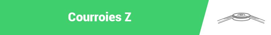 Courroies Z