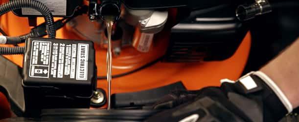 Vidange de l'huile moteur tracteur tondeuse autoportée