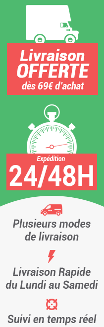 Des modes livraisons rapides avec suivi en temps réel de vos pièces détachées.